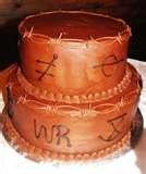 western grooms cake