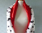 Cruella deville dalmatian print stole / shawl / scarf for costume or fancy dress in Cruella