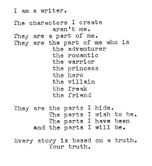 Wow, so powerful and real! This is exactly who I am, a Writer...
