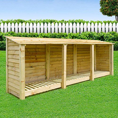 EMPINGHAM WOODEN LOG STORE/GARDEN STORAGE, 11ft WIDE X 4ft HIGH, GREEN, HEAVY DUTY, HAND MADE, PRESSURE TREATED.: Amazon.co.uk: Garden & Outdoors