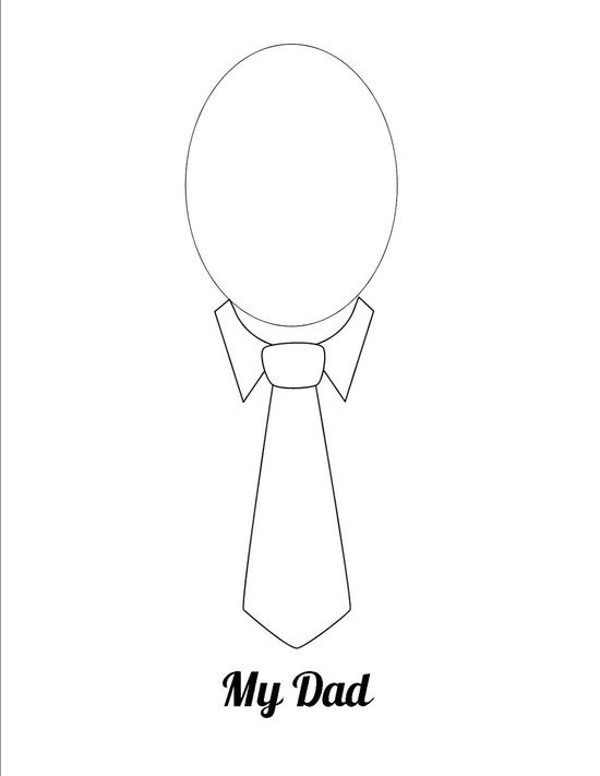 Father's Day Craft - I could see my little toddlers coloring this! Could be very funny!!