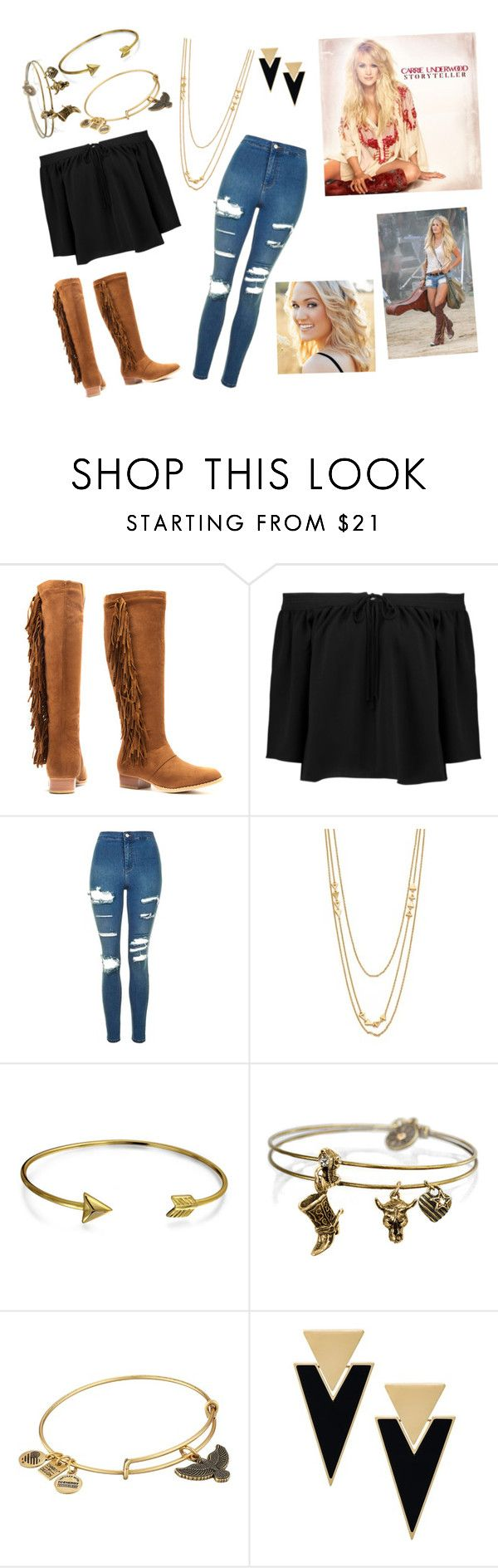 """""""Carrie Underwood Concert tonight!"""" by archeryfashionfab on Polyvore featuring Elizabeth and James, Topshop, Gorjana, Bling Jewelry, Sweet Romance, Alex and Ani and Yves Saint Laurent"""