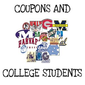 Coupons for college students