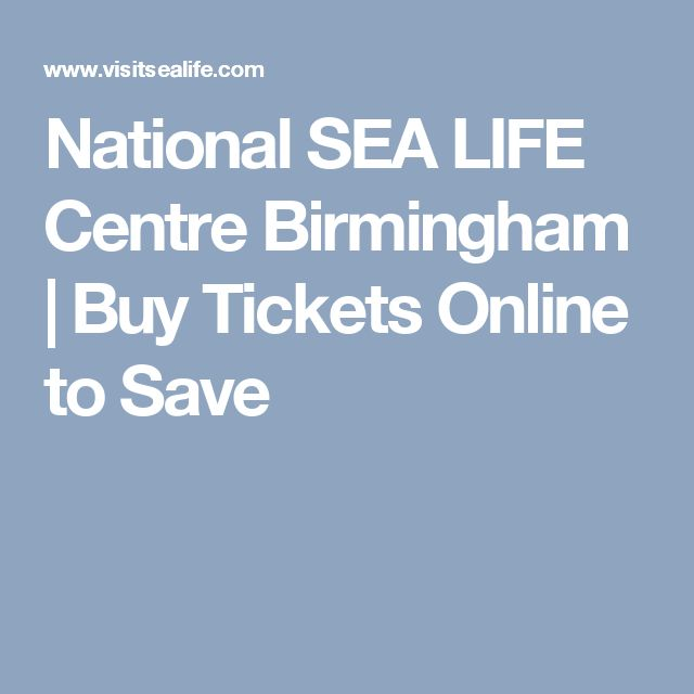 National SEA LIFE Centre Birmingham | Buy Tickets Online to Save