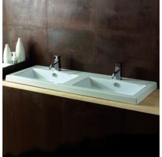 """View the Nameeks CAN04011 Tecla 47-1/4"""" Ceramic Wall Mounted / Drop In Bathroom Sink with 0 / 2 / 6 Faucet Holes and Overflow at Build.com."""
