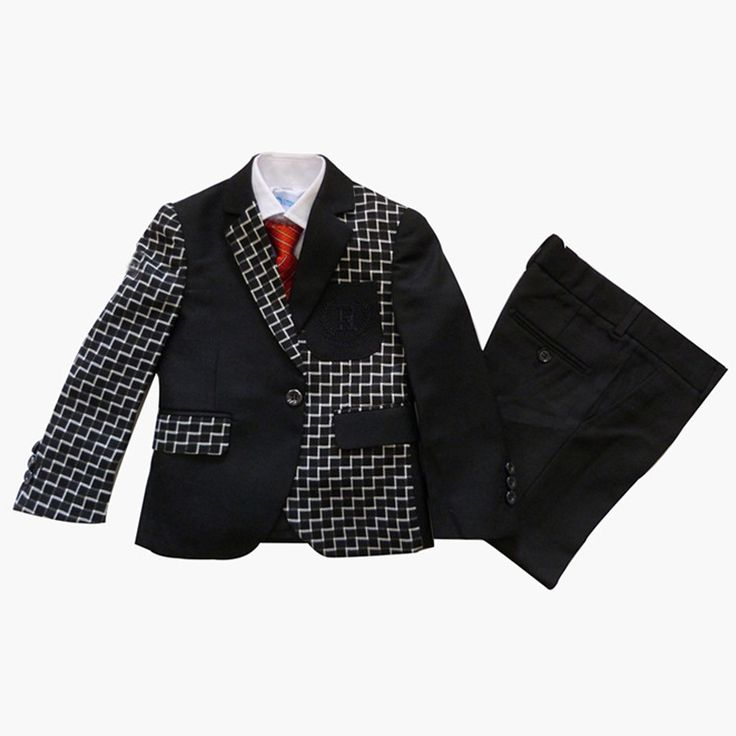 49.79$  Buy here - Boys Black Suits for Weddings Kids Clothes Boys Tuxedo Suits for 2-15 Years Children Dress Suit  #buychinaproducts