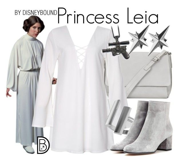 """Princess Leia"" by leslieakay ❤ liked on Polyvore featuring Kin by John Lewis, Allurez, Gianvito Rossi, Tessa Packard, adidas, disney, disneybound, starwars, disneycharacter and princessleia"