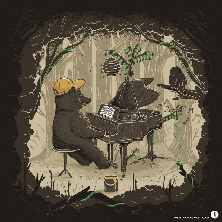 Forestal Sounds (Illustration by Robert Richter, personal artwork 2011)