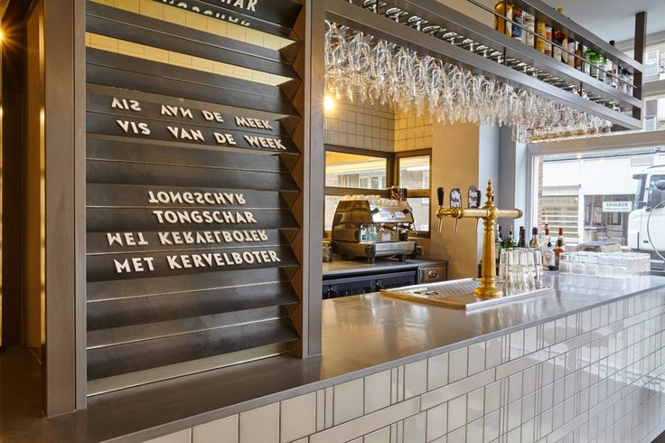 Studio Modijefsky adorns corner café with metallic accents and fish scales - News - Frameweb