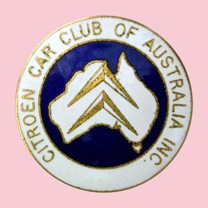 Citroen Car Club of Australia Inc. Large Car Badge • Citroen Societe South Australia