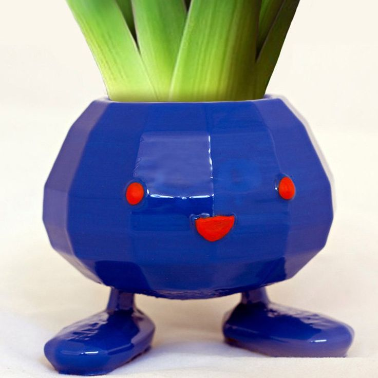 Oddish is ready for your Pokedex! These 3D printed planters are made to resemble the cute little grass type Pokemon that's good for more than just battling. The hollowed out center can be used to sprout and grow a variety of plants.