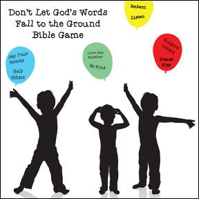Keep God's words from falling to the ground Bible Game for Children from www.daniellesplace.com