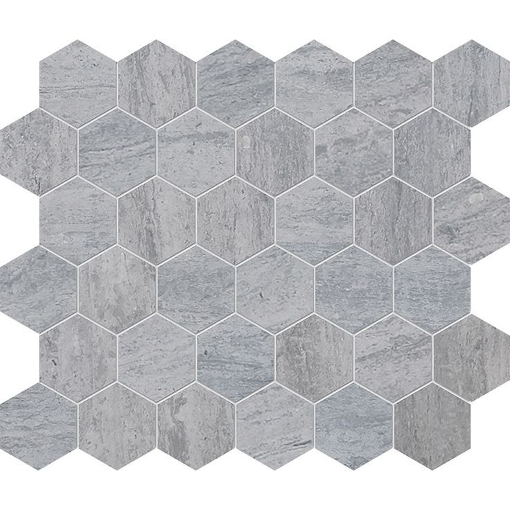 Haisa Blue Honed Hexagon Marble Mosaics