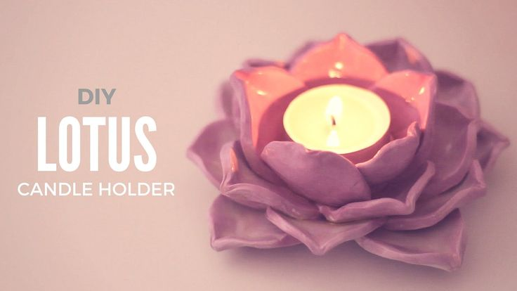 Hey guys! Today I will show you how to make a lotus inspired candle holder out of oven-bake polymer or air dry clay! Growing from the mud and blooming toward...