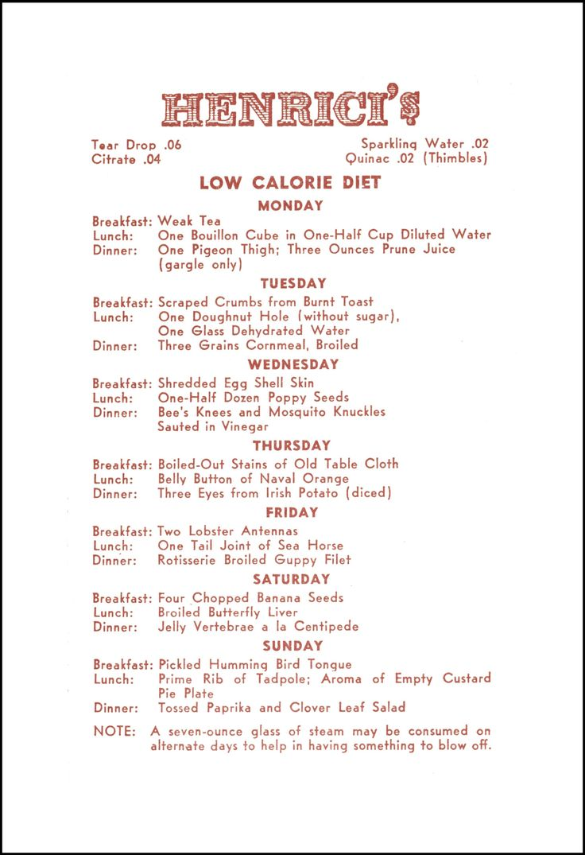 Henrici\u0027s Restaurant Unusual Diet Chicago circa 1930s  sc 1 st  Pinterest & 15 best Chicago Restaurant Menus images on Pinterest | Vintage menu ...