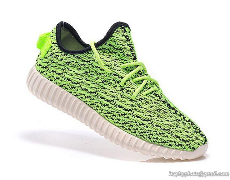 custom adidas yeezy boost 350 kanye west green/yellow black/white sneakers  run athletic womens shoes by customEU on Etsy