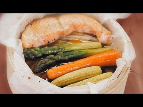 Лосось с овощами в соусе терияки на пару - рецепт Уриэля Штерна