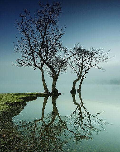 Ullswater, the second largest lake in the English Lake District,