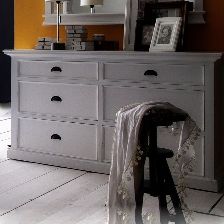 The Halifax White Painted Low Chest Of Drawers Has 6 Drawers. Browse The  Full Range