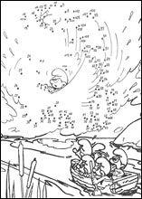 coloriage jeu du point à point des schtroumpfs