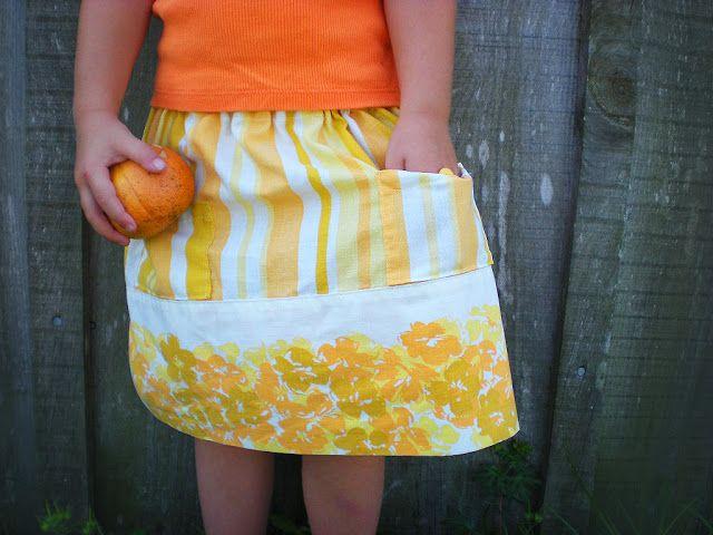 DIY Citrus Pillowcase Skirt & 202 best DIY Skirt images on Pinterest | Sewing projects Diy ... pillowsntoast.com