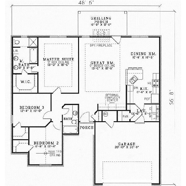40 best home floor plans images on pinterest for 2 story floor plans without garage