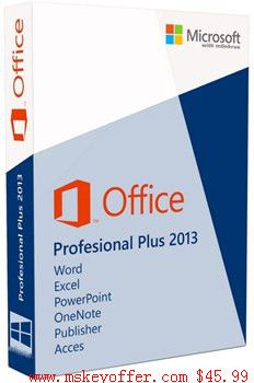 Microsoft Office Profession Plus 2013 key just $45.99 , you can get free download link , and a genuine key , welcome to our store : mskeyoffer.com