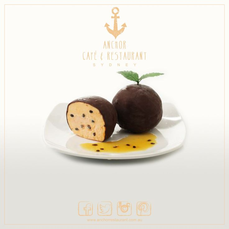 Passion Delight    Gelato #Desserts ⚓ ANCHOR Cafe & Restaurant - Taste the difference! Exquisite fresh #passionfruit #gelato veiled by a layer of rich #darkchocolate. Perfect served on its own or with dollop of #cream. #anchor #anchorcafe #anchorrestaurant #anchorestaurant #milsonspoint #kirribilli #lavenderbay #northsydney #northshore #mosman #bradfieldpark #sydneyrestaurants #sydneycafes #passiondelight #chocolate #icecream #dessert #dessertporn #desserttable #icecream #coffee #affogato