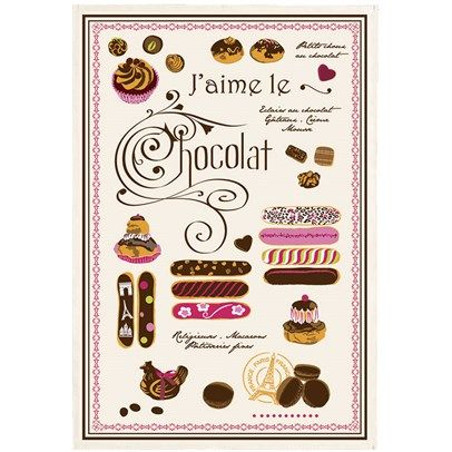 Oui! Tea Towel Eclairs Choclate Multicolor was $33 and is now available for $23 in our Torchons & Bouchons sale!