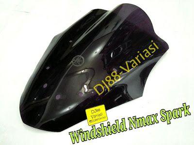 Windshield nmax spark visor nmax smoke hitam transparan winsil
