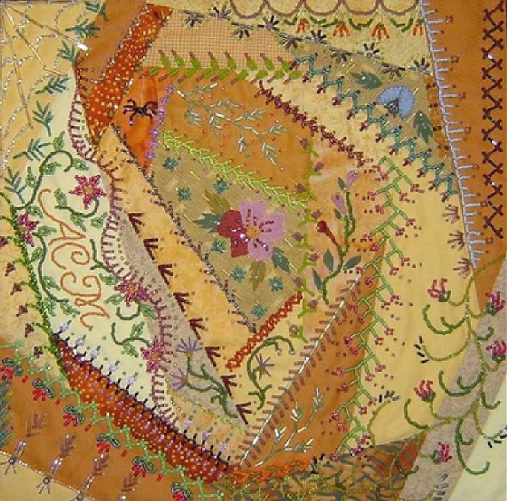 great colors I ❤ crazy quilting, beading & embroidery . . . Bead Crazy 2 details ~By Amy Munson