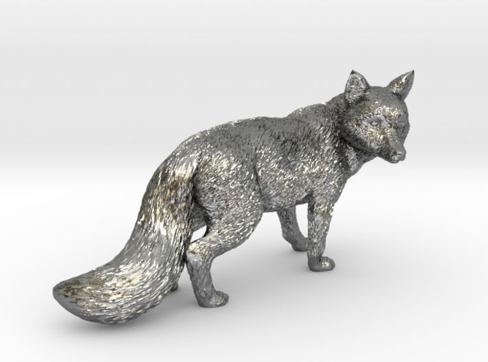 Fox statue 3d printed sterling silver. Wow!!!
