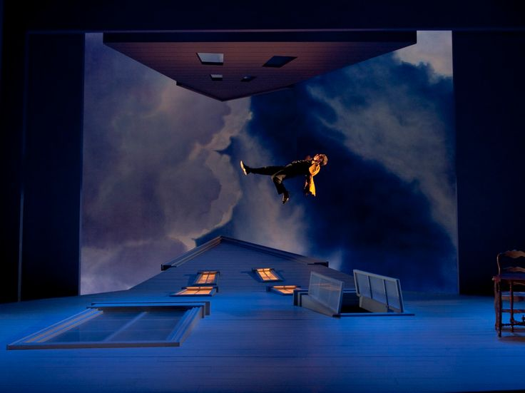The Master Builder at Yale Rep, scenic design by Tim Brown