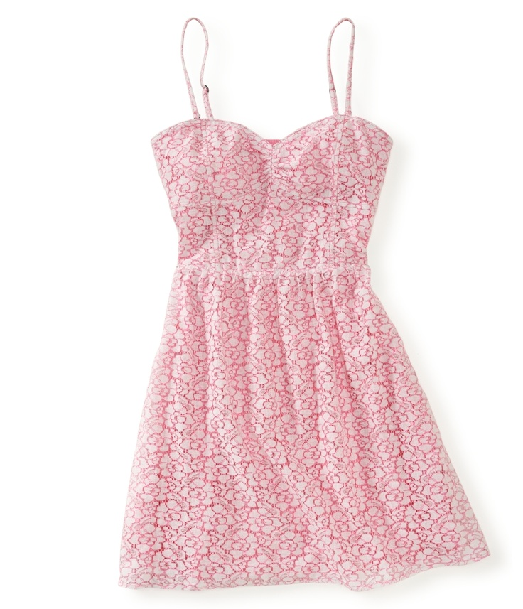 Pink Neon Lace Dress from Aéropostale