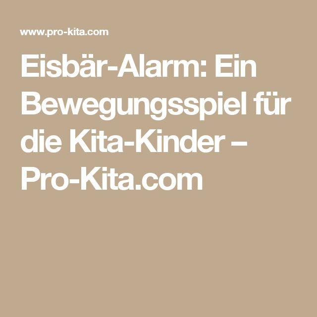 Eisbär-Alarm: Ein Bewegungsspiel für die Kita-Kinder – Pro-Kita.com