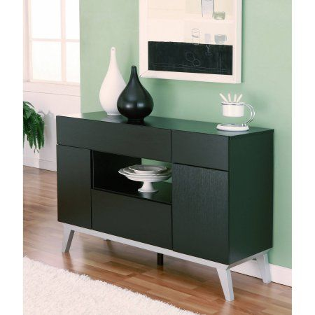 Furniture of America Feran Modern Multi Storage Buffet Table  Black. Best 25  Modern buffet table ideas on Pinterest