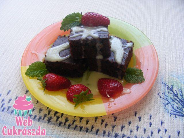 Fehér csokis brownie
