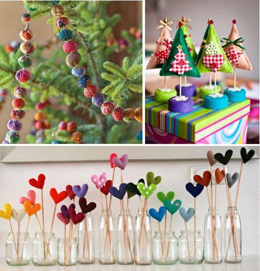 """Idee per un Natale a colori, ma un pò """"infeltrito""""!   Blog di arredamento e interni - Dettagli Home Decor"""