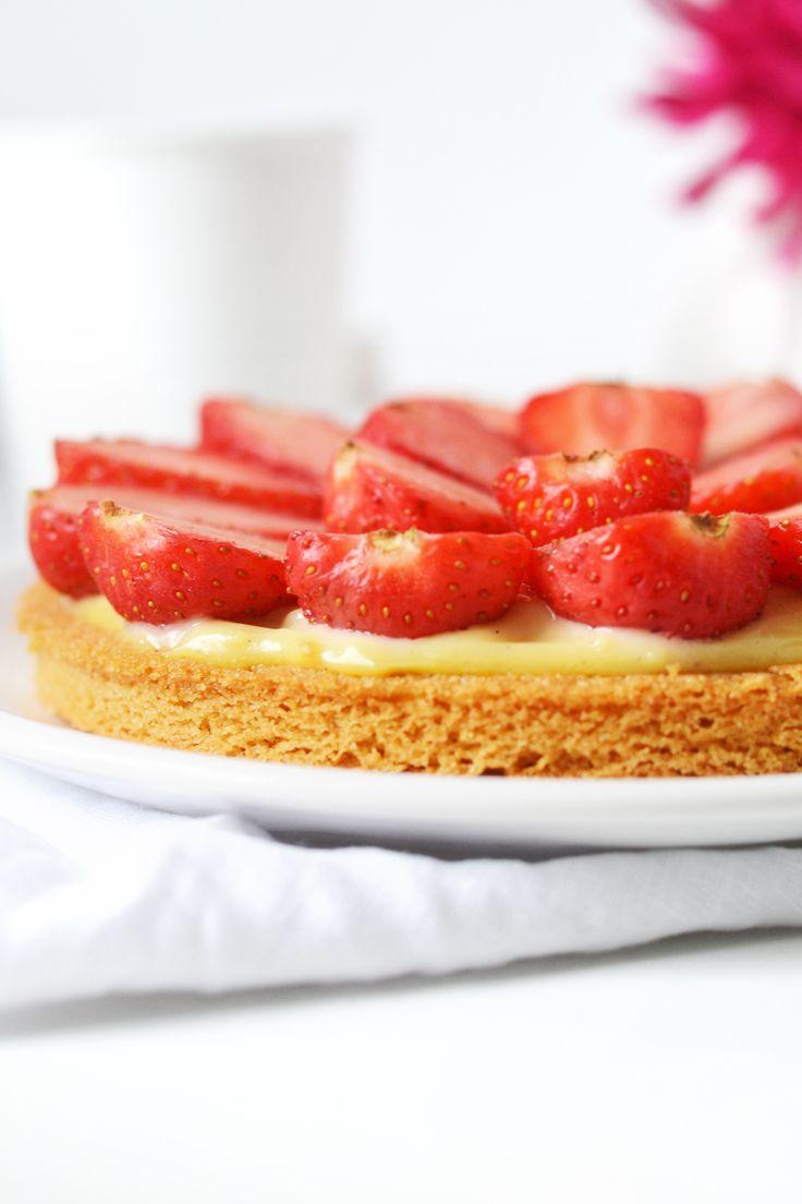 Tarte aux fraises, sur sablé breton | Cakes & Nails