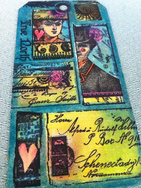 Stamping and Portfolio pastels. Lynne Perrella Stamps
