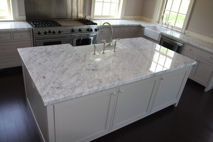 carerra marble kitchen counter | Kitchen Counter Tops Designs, Ideas and Pictures | Rye Marble