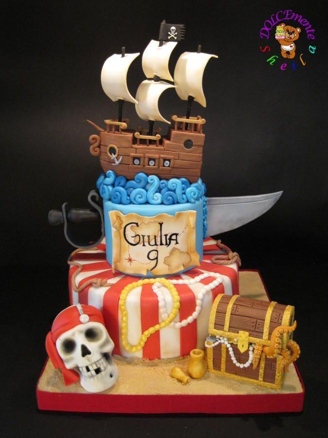 Pirates of the Caribbean - Cake by Sheila Laura Gallo
