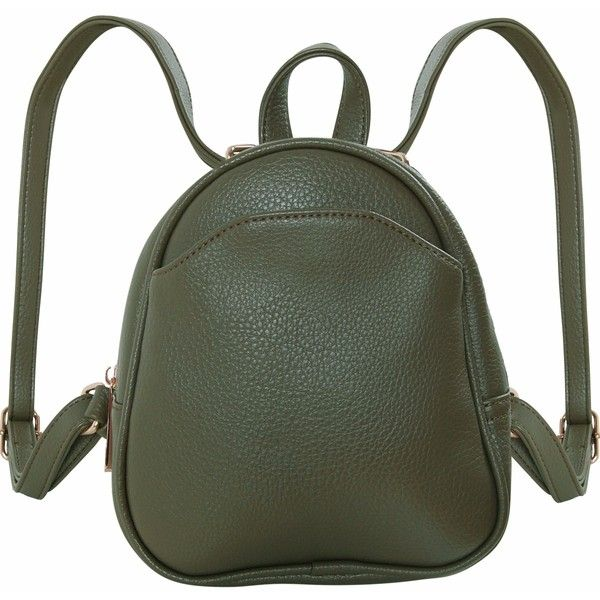 Humble Chic NY Mini Vegan Leather Backpack ($44) ❤ liked on Polyvore featuring bags, backpacks, convertible handbags, olive, day pack rucksack, mini rucksack, faux leather mini backpack, army green backpack and mini backpack