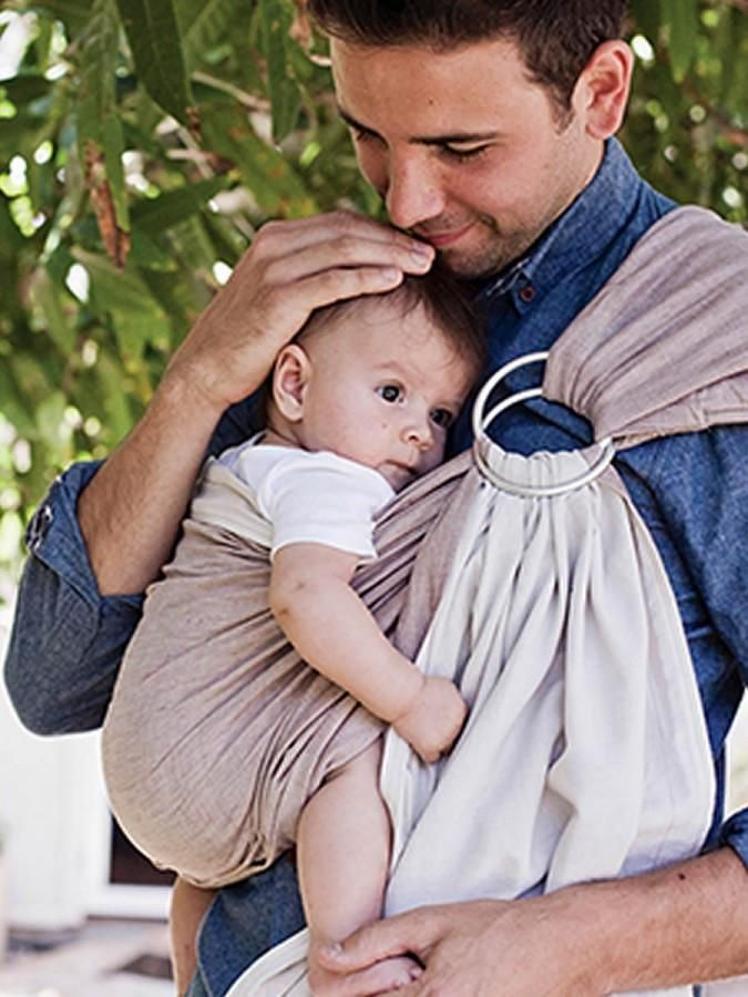 Hug A Bub Organic Cotton Ring Sling Reversible Sand And Stone