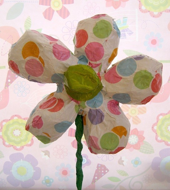 papier mache flowers by 8 yo on etsy MaiseysDaiseys