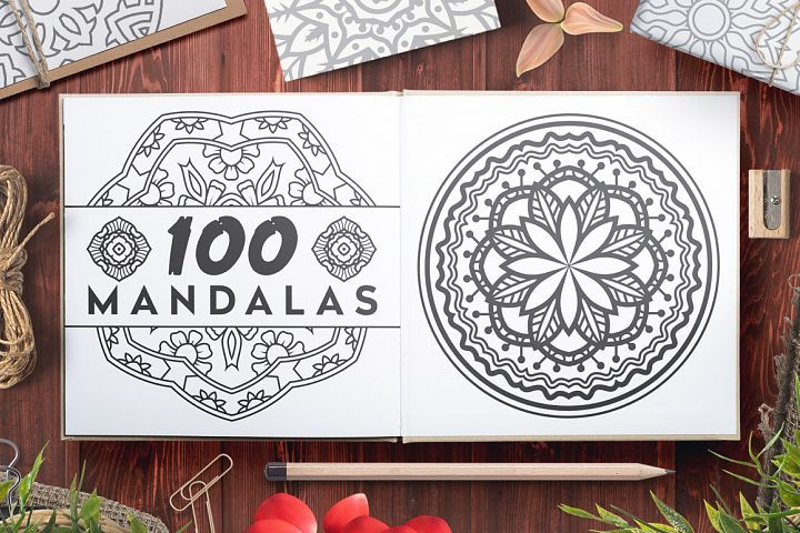 SALE $1 - 100 Vector Mandala Ornaments