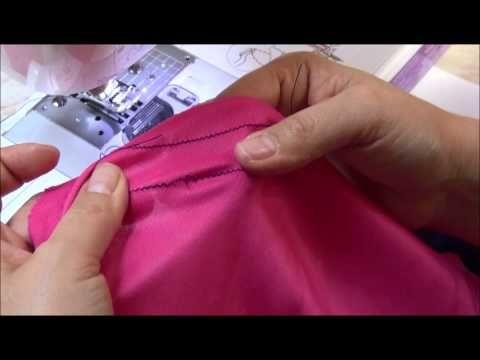 Las telas elásticas se deben coser con una puntada elástica para evitar que se rompa al estirar la Tela. En este video pongo el paso a paso del ajuste detall...