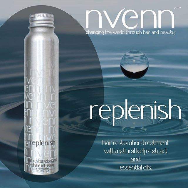 RESTORE your hair & lock in MOISTURE with our restoration oil 'REPLENISH': https://goo.gl/BfBePt   #nvenn #salonpro #essentialoils #moisture #replenish #revive #yychair #yeghair  #nvennhairbeauty #bbloggers #hairbeauty
