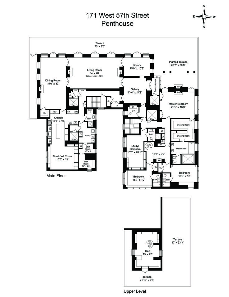 233 best images about penthouse on pinterest floor plans