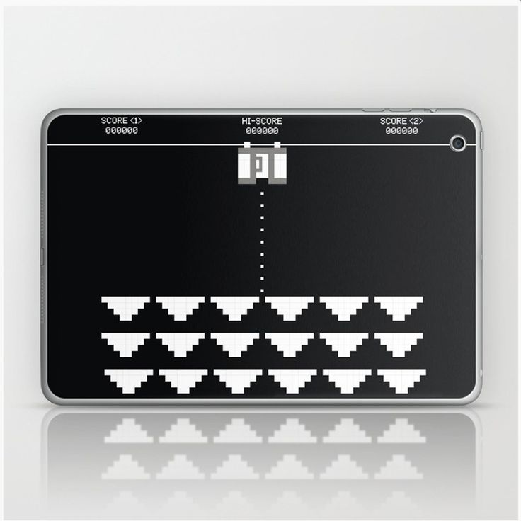 """Briefs Invaders"" by Grab at Dot on tablet skins & more...   https://society6.com/grabatdot"
